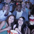 People watching film in movie theater — Stock Photo