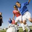 Teenagers Playing Soccer — Stock Photo