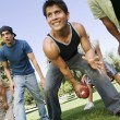 Men playing football — Stock Photo