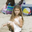 Portrait of girl on beach — Stock Photo