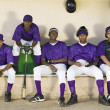 Baseball players sitting — Stock Photo #33809137