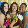 Teenagers at Dance Showing Corsages — Stock Photo