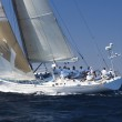 Racing Sailboat with Crew on Ocean — Stock Photo #33809393
