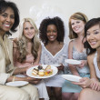 Woman celebrating bridal shower — Stock Photo