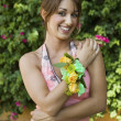 Stock Photo: Teenage Girl Wearing Corsage