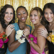 Teenager girls at school dance — Stockfoto
