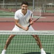 Tennis Player on court — Stock Photo