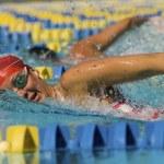 žena plavání — Stock fotografie