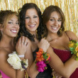 Stock Photo: Girls Showing Prom Corsages
