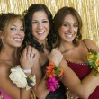 Girls Showing Prom Corsages — Stock Photo