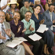 Stock Photo: Congregation Clapping at Church