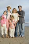 Family Together on Beach — Stock Photo