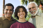 Oy with Father and Grandfather — Stock Photo