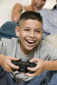Happy Boy Playing Video Games — Stock Photo