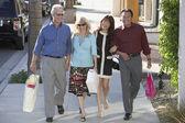 Couples on Shopping Trip — Stock Photo