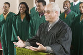 Minister Preaching — Stock Photo