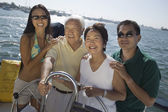 Sailing Family — Stock Photo