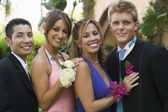 Couples Dressed for Prom — Stok fotoğraf