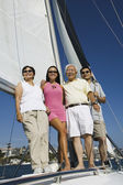 Family on Sailboat — Stock Photo