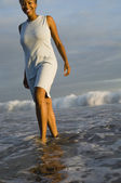 Woman Wading in the Ocean — Stock Photo