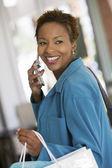Mulher no celular — Foto Stock