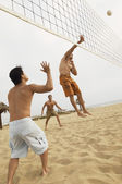 Man in Mid-air Going for Volleyball — Stock Photo