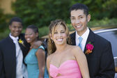 Couples on Their Way to Prom — Stock Photo