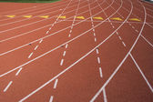 Lane marks on running track — Stock Photo