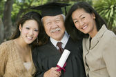 Older Graduate with Family — Stock Photo