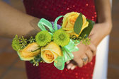 Teenage girl wearing corsage — Stock Photo