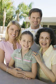 Family Posing Together — Stock Photo