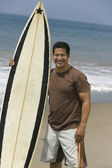 Man Holding Surfboard — Stock Photo