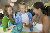 Friends Shopping at Clothing Store — Stock Photo