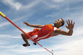 Male high jumper — Stock Photo