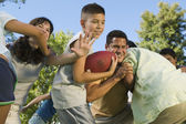 Family Football Game — Stock Photo