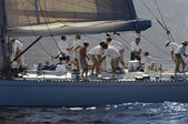 Crew working on yacht — Stock fotografie