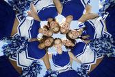 Cheerleaders Standing in Circle — ストック写真
