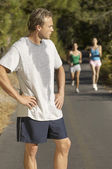 Jogger Catching His Breath — Stock Photo