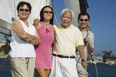 Family sailing — Stock Photo
