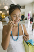 Girl Using Cell Phone — Stock Photo
