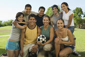 Friends and Family at a Park — Stock Photo