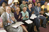 Congregation Clapping at Church — Stock Photo
