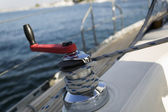 Sailing winch — Stock Photo