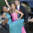Stock Photo: Teenagers Videotaping Their Prom