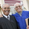 Ministers in Front of Church — Stock Photo