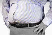 Overweight Man's Stomach — Stock Photo