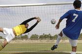 Player scoring goal — Stock Photo
