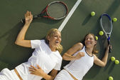 Women After Tennis Match — Stock Photo