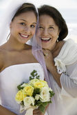 Happy Bride and Mother — Stock Photo