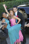 Teenagers Videotaping Their Prom — Stock Photo